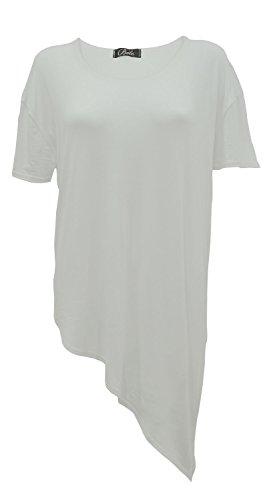 Generic Damen T-Shirt, Einfarbig Cremefarben