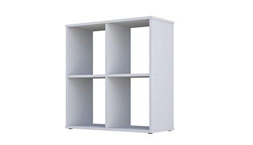Polini Home Raumteiler Bücherregal Regal Standregal weiß 4 Fach -