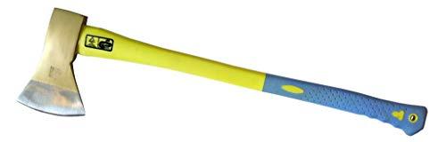 DWT-Germany 101459 1250g PROFI Rheinische Axt Kohlenfaserstiel Fiber Spaltaxt Spalthammer Beil