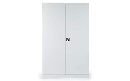 Stahlschrank Werkstattschrank Aktenschrank grau | Höhe 195 cm - KOMPLETT MONTIERT (60, 120) - Komplett Montiert Aktenschränke