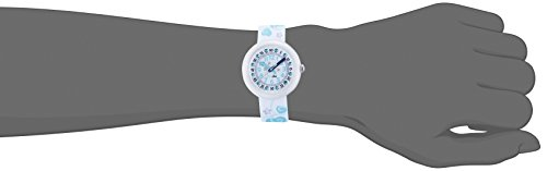 Flik Flak Mädchen Analog Quarz Uhr mit Stoff Armband FTNP005-STD - 4