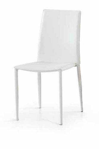 Legno&Design Lot X 2 Chaise Moderne séjour Cuisine Bar avec châssis Acier Simili Cuir Blanche Offre.