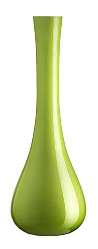 Leonardo Sacchetta Vase grün, Höhe 40 cm, Durchmesser 15 cm, handgefertigtes Farbglas, 035622