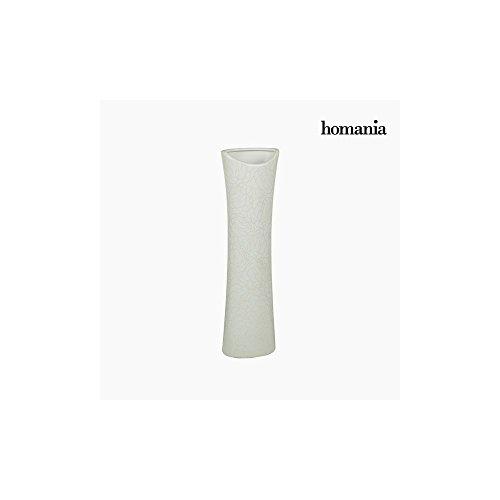 Vase Céramique Blanc (14 x 9 x 49 cm) by Homania