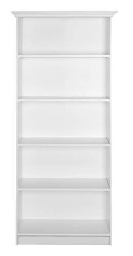 Landhaus Regal - Bücherregal Standregal (B/H/T: 80 x 200 x 35 cm) weiß