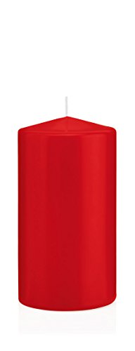 Bougies Rouge, Bougies Pilier Rouge 6 x 3 cm (H x Ø), 40 pièces, Bougies Wiedemann, Bougies de Marque Made in Germany