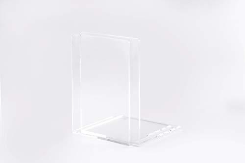 Maul Buchstützen,Hochwertiges Acryl, 10 x 10 x 13 cm, Glasklar, 2 Stück