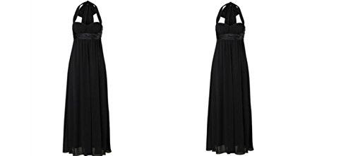 Laura Scott Evening Kleid, Abendkleid & Schal K- Gr. 18 (36), Schwarz