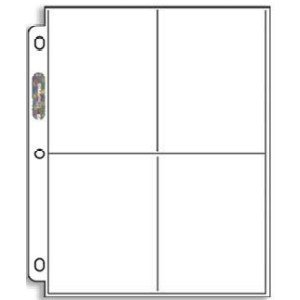 Ultra Pro Platinum Series 4 Pocket Coupon Storage Page (Paket mit 20 Seiten für größere Coupons & Postkarten)