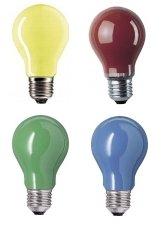 20er Glühlampenset - farbig gemischt - E27/25W ideal für Biergartenbeleuchtung von Kingdiscountde auf Lampenhans.de