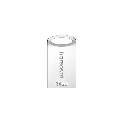Transcend TS64GJF710SPE JetFlash 64 GB USB-Stick USB 3.1 Gen1/3.0 silber [Amazon Frustfreie Verpackung]