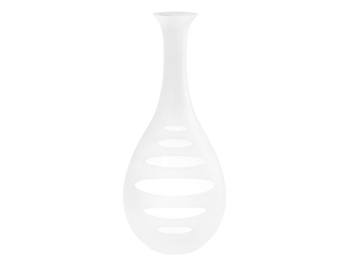 Pasabahce Glass Vase, Frosted White