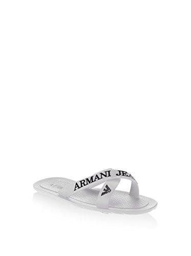 C65561610 Armani Jeans Pantoffeln Herren Stoff Weiß Weiß