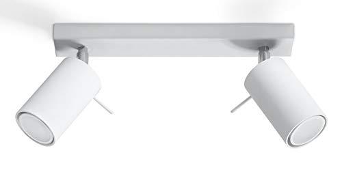 Sollux Lighting NEU Weiße Wohnzimmer und das Vorzimmer-Stahl-SOLLUX Ring 2 SL.0088 runde Moderne Deckenleuchte Loft 2-FLG. LED Gu-10 LEUCHTEN-Bei Amazon für den günstigsten Preis