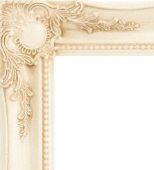 CREAM Swept Frame Wall Overmantle MIRROR Shabby Chic Stlye Lots of Sizes 3 Inch Moulding (36 x 26