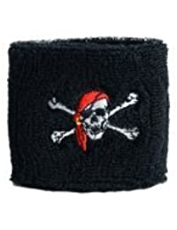 Digni® Poignet éponge avec drapeau Pirate avec foulard