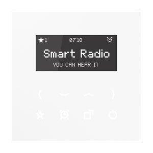 Jung Smart Radio Serie LS Alpinweiß, 1 Stück, RAD LS 908 WW