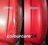 Kit Wiederherstellung Lack Schulterpolster Sitz Panels Leder Nachbearbeitung Farbe Rot von 35ml