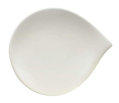 Villeroy & Boch Flow Brotteller, 20 x 17 cm, Premium Porzellan, Weiß