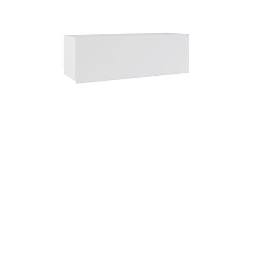 Mirjan24 Hängeschrank Calabrini BR02, Schrank für Wohnzimmer, Wandschrank, Kollektion (Weiß/Weiß Hochglanz)