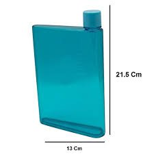 Portable Reusable Slim A5 Size Notebook Water Bottle Bpa-Free 420ml Multipurpose Made for Everyday Use - Fits Flat in Bag Purse Backpack Briefcase for School, Office, Gym, Yoga Outdoors & Camping