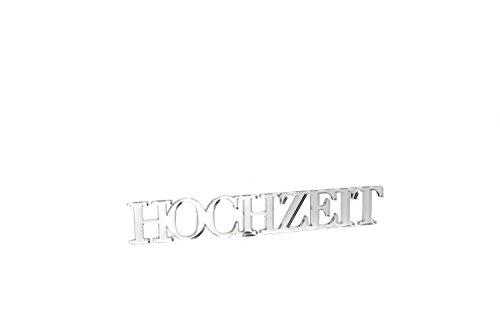"""3D Wandtattoo """"Hochzeit"""" aus Acryl, selbstklebend Türschild, Wanddeko, Made in Germany (sozial & nachhaltig)"""