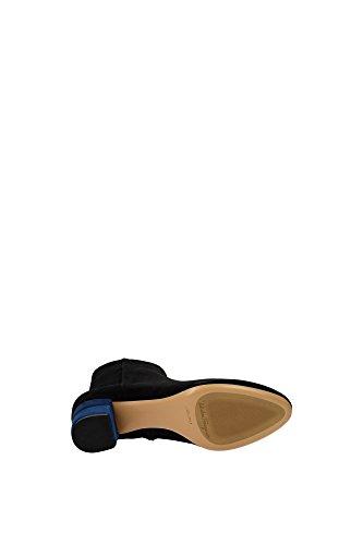 LORIS550619527 Salvatore Ferragamo Chaussure mi montantes Femme Chamois Noir Noir