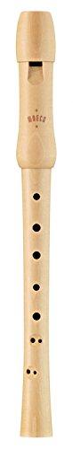 Moeck Blockflöte 1210 Schul-Sopran Blockflöte Barocke Griffweise mit Doppelloch aus Ahorn