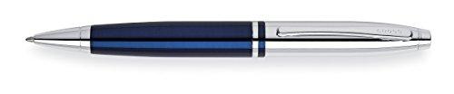 Cross Calais Kugelschreiber, Chrom blau