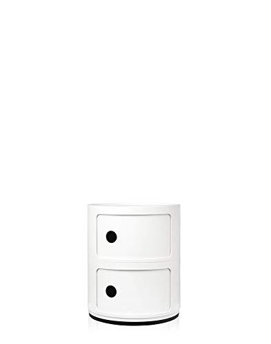 Kartell 4966/03 Componibile Endtische, Plastik, weiß, 32 x 40 x 32 cm