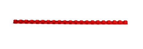Gbc - caja de 50 canutillos de plastico de 25 mm.capacidad para 240 hojas. color rojo.