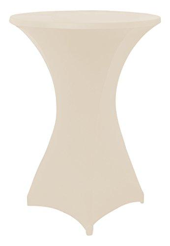Stretchhussen für Stehtische und Bistrotische in weiß, Überwurfhusse für einen Tischdurchmesser von 70 - 75 cm, Stehtischhussen, Outdoor-Tischdecken by Floyen Home