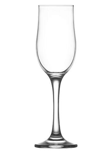 La-V LAV NEVAKAR Verre Champagne Tulipes – 195 ML – Lot de 6 flûtes à Champagne Verres à vin