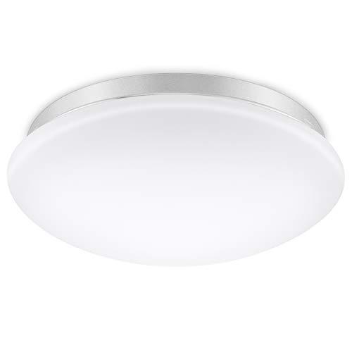 Elrigs LED Deckenlampe mit Bewegungsmelder, Reichweite, Zeit- und Dämmerungsschwelle einstellbar, Kaltweiß (6000K) Deckenleuchte, Wandleuchte, 12W (ersetzt 100W), 1020 lm, 360° Sensorleuchte