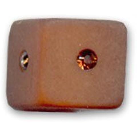Cubo strass Polaris mm. 10 Smoked Topaz x1