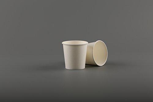 113,4g weiß Pappbecher (100Stück) Einweg Single Wand für Espresso Kaffee Shots Sampling Party Take Away Picknick outdoor (113,4g) -