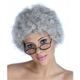 Kostüm Afro Disco - REALPACK® Curly Afro Fancy Dress Perücken Funky Disco Clown Style Herren/Damen Kostüm Party. KOSTENLOSE Schnelle UK Versand grau