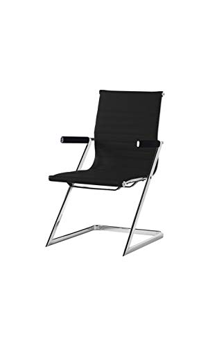 CAMINO A CASA - Chaise de Bureau Design Simili Cuir Blanc Zeta