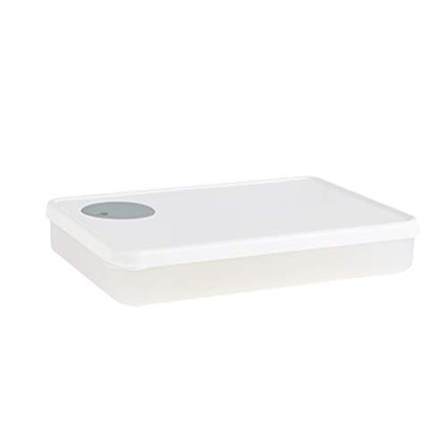 TOPBATHY Kühlschrank Knödel Aufbewahrungsbox Knusprig Versiegelte Lebensmittelbehälter Platzsparer Tablett Veranstalter für Küche Kühlschrank Gefrierschrank 301-500Ml (Weiße Einzelschicht)