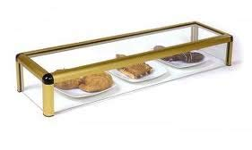 Vitrina expositora alimentos, ideal barra bar para los aperitivos, largo 1200 mm.