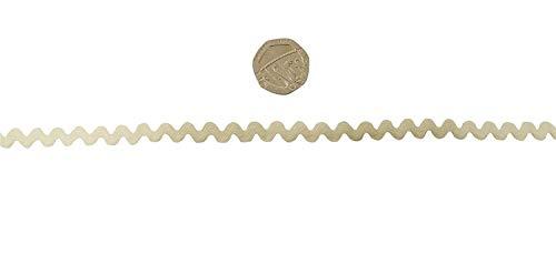 Creme Ric Rac 8mm Trimming Verkauft in Zwei Meter Längen -