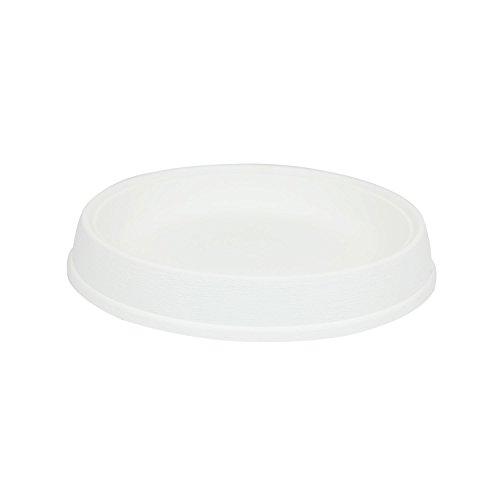 Soucoupe support Massive en plastique de diam. 39 cm, en blanc