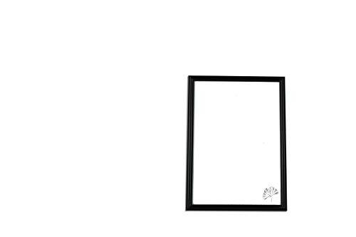 Cornice london - cornice portafoto in pvc da tavolo e parete, 18x24 cm, colore nero