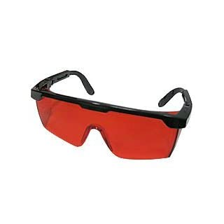 ANZESER LB-FT Laser View Enhancing Glasses with Adjustable Temple, Red Lens, Black Frame with Case