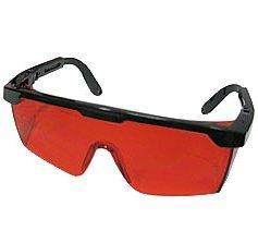 AJSR Laser Schutzbrille Mit Brillenetui, Rote Linse, Schwarzen Rahmen