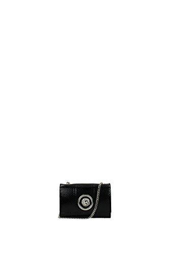 Borse a Tracolla Versace Versus Donna Pelle Nero e Argento FBD1155FAYENF41N Nero 5.5x10x15.5 cm