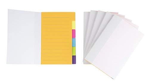 6Stück Index Register-Trennwand Aufkleber Notizen, 360liniert Notizen, Lesezeichen Sticker, Farbe Kodiert für Studenten, Büro, Zuhause, 10,2x 15,2cm - Rechtliche Tabs