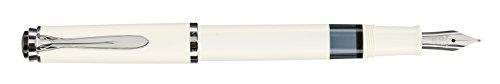 Pelikan M205 M 971853 - Pluma en caja de regalo, tamaño F, color blanco