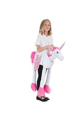 Kostüm Jam Monster - Einhorn Huckepack Kinderkostüm Größe M Unisex Trag Mich Reiter Unicorn Karneval 50180