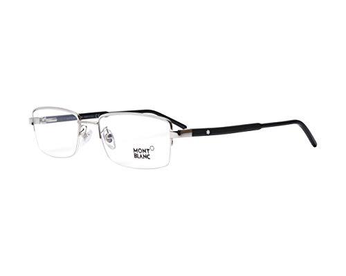 Mont Blanc Brille (MB-581 016) Acetate Kunststoff - Metall silber - schwarz